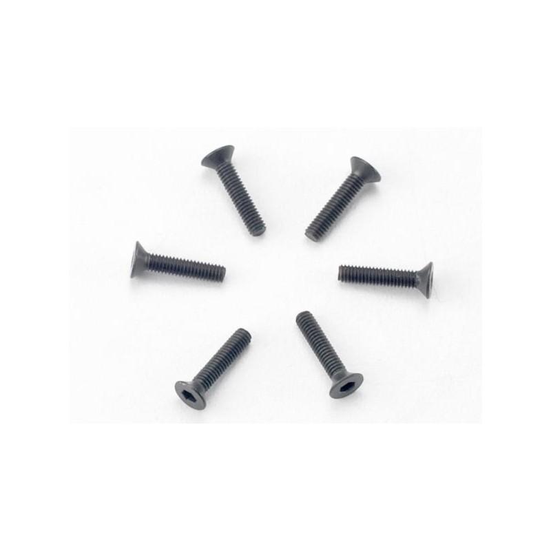 Tornillos de 2.5x12mm cabeza avellanada (hexagonal) (6)