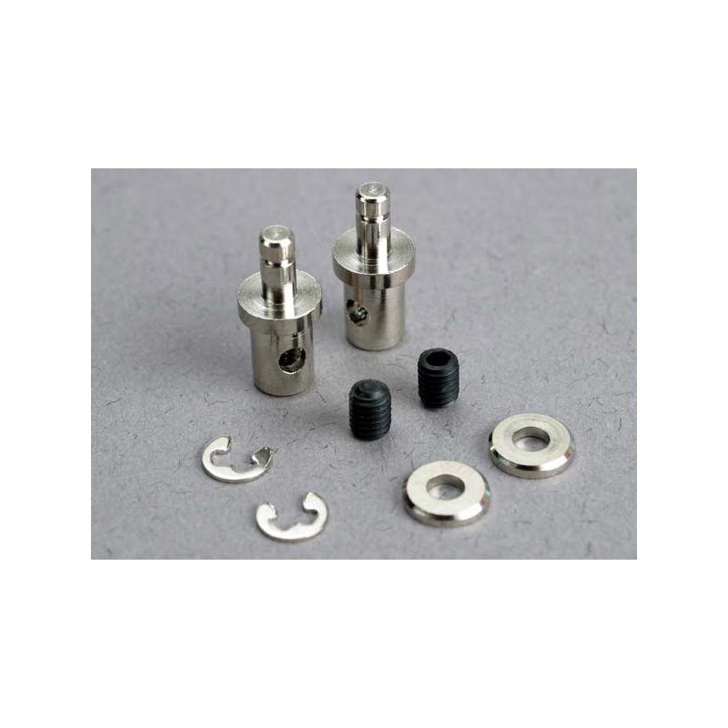 Conectores de varilla de servo (2) / tornillos de fijación de 3 mm