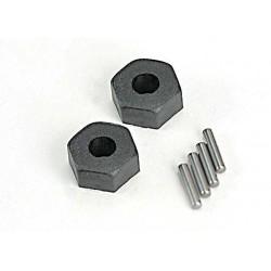 Cubos de rueda Traxxas hexagonales de plastico 12mm