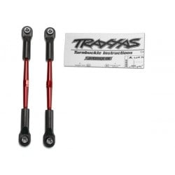 Turnbuckles aluminum (red-anodized) toe links 61mm (2)