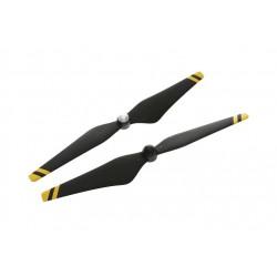 Helices auto ajustables reforzadas de fibra de carbono 9450 (junturas de material compuesto, negras con franjas amarillas)
