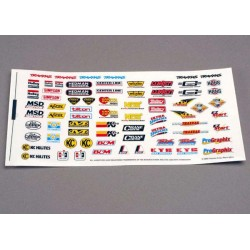 Decal sheet racing sponsors