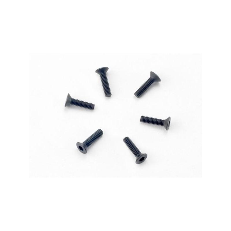 Screws 2.5x10mm countersunk machine (hex drive) (6)