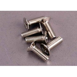 Screws 4x12mm countersunk machine (100-degree) (6)