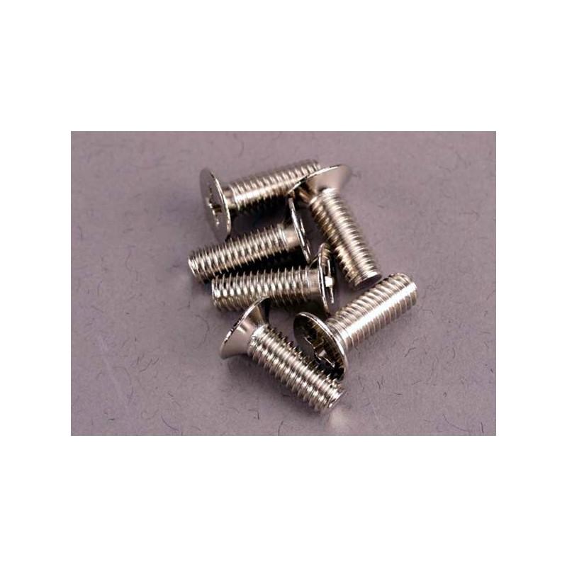 Screws 4x12mm countersunk machine (100-degree) (6)
