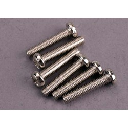 Screws 3x15mm roundhead machine (6)
