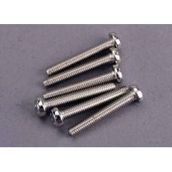 Tornillos de cabeza redonda de 3x20 mm (6)