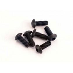 Tornillos de cabeza de botón de 3x8 mm (hexagonal) (6)