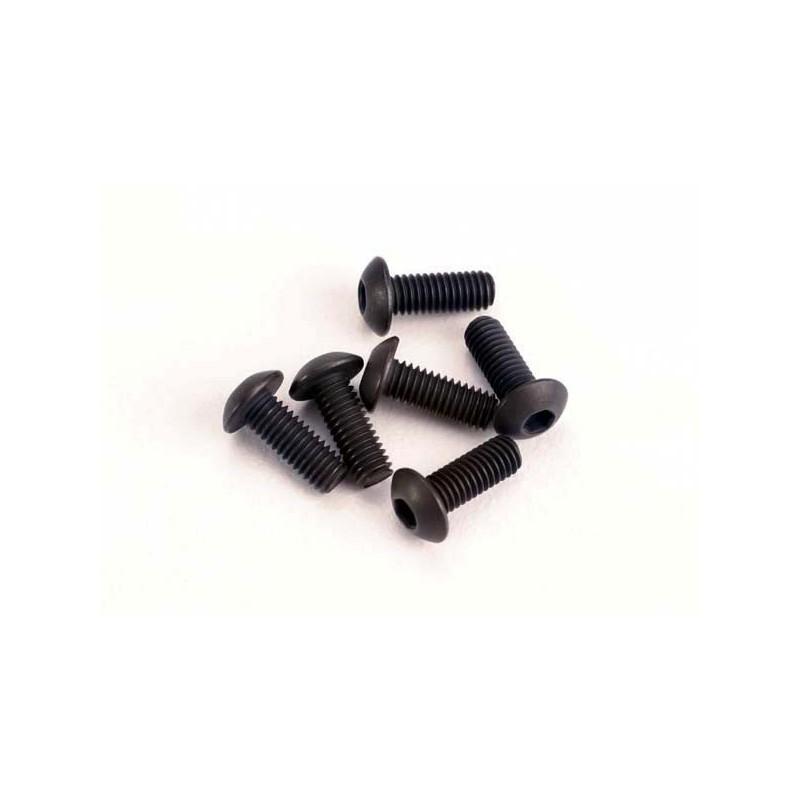 Screws 3x8mm button-head machine (hex drive) (6)