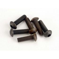 Tornillos de cabeza de botón de 3x10 mm (hexagonal) (6)