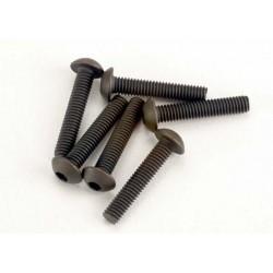 Tornillos de 3X15mm. cabeza de botón (hexagonal) (6pcs)