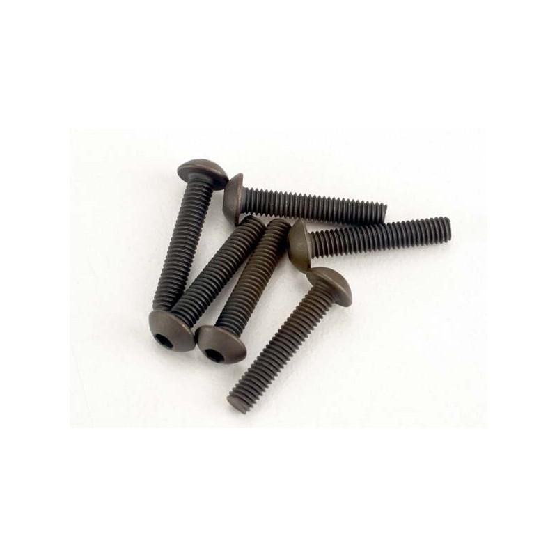 Tornillos de cabeza de botón de 3x15 mm (hexagonal) (6)