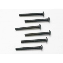 Screws 3x25mm button-head machine (hex drive) (6)