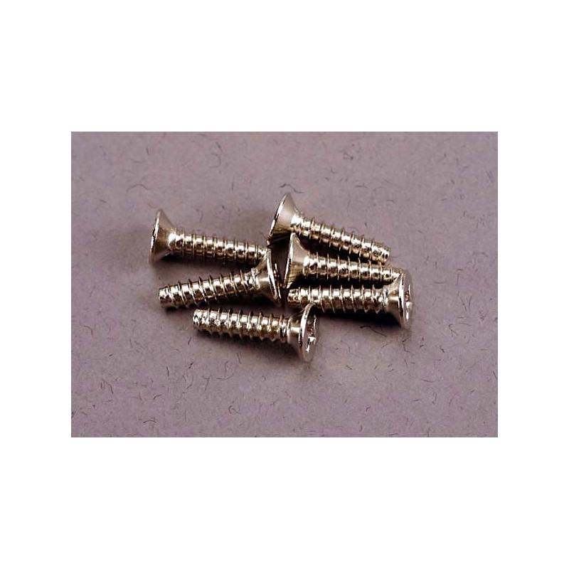 Tornillos de 3X12mm. autorroscantes avellanados (6pcs)