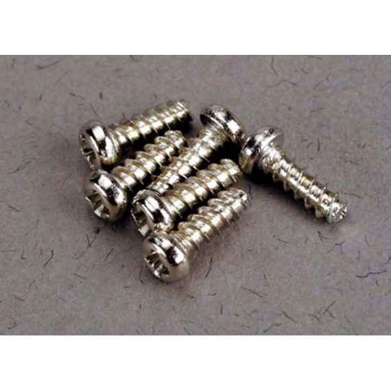 Screws 2x6mm roundhead self-tapping (6)