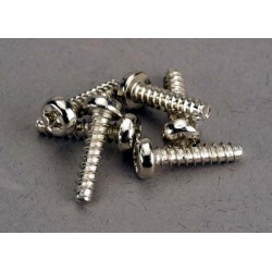 Screws 3x12mm roundhead self-tapping (6)