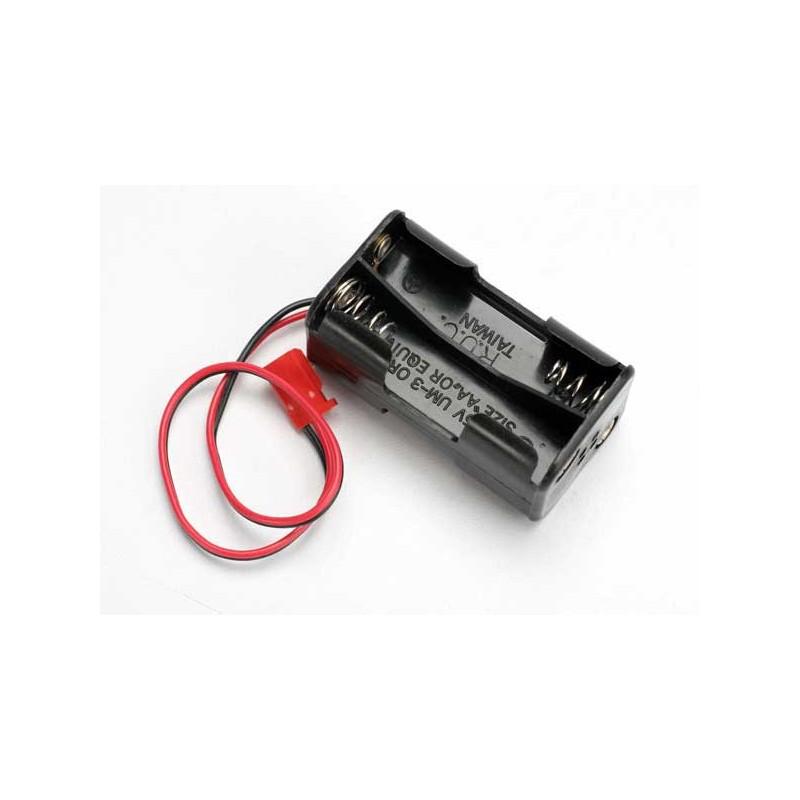 PORTAPILAS TRAXXAS 4 CELDAS (sin interruptor de encendido / apagado)