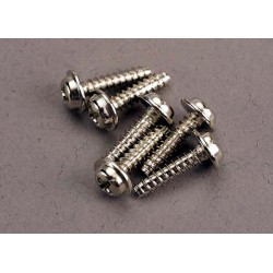 Screws 3x12mm washerhead self-tapping (6)