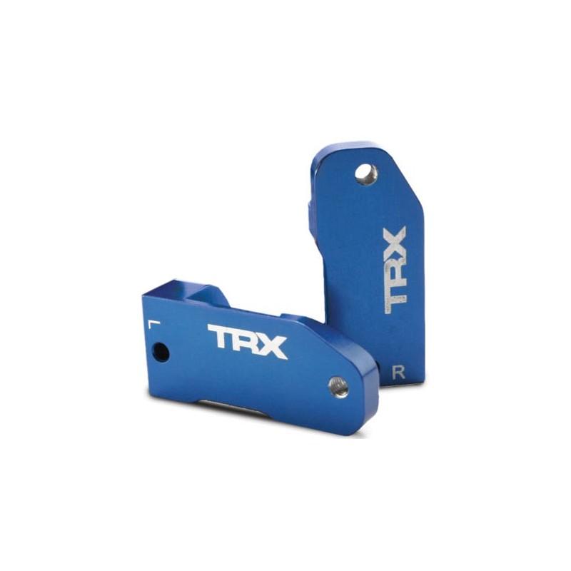 Caster blocks 30-degree blue-anodized 6061-T6 aluminum (le