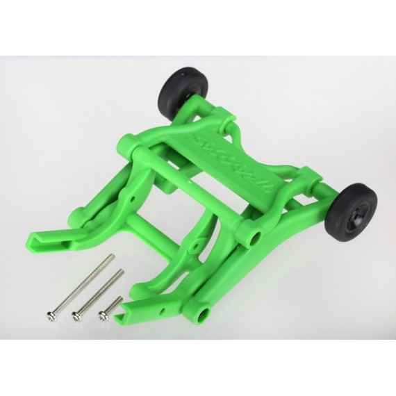 Wheelie bar assembled (green) (fits Stampede Rustler Bandit