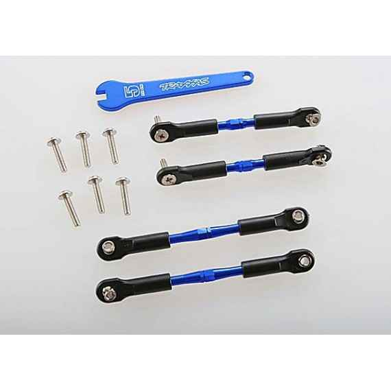 Turnbuckles aluminum (blue-anodized) camber links front