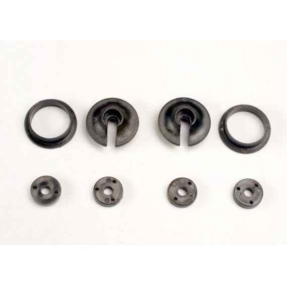 Spring retainers upper & lower (2)/ piston head set (2-hole
