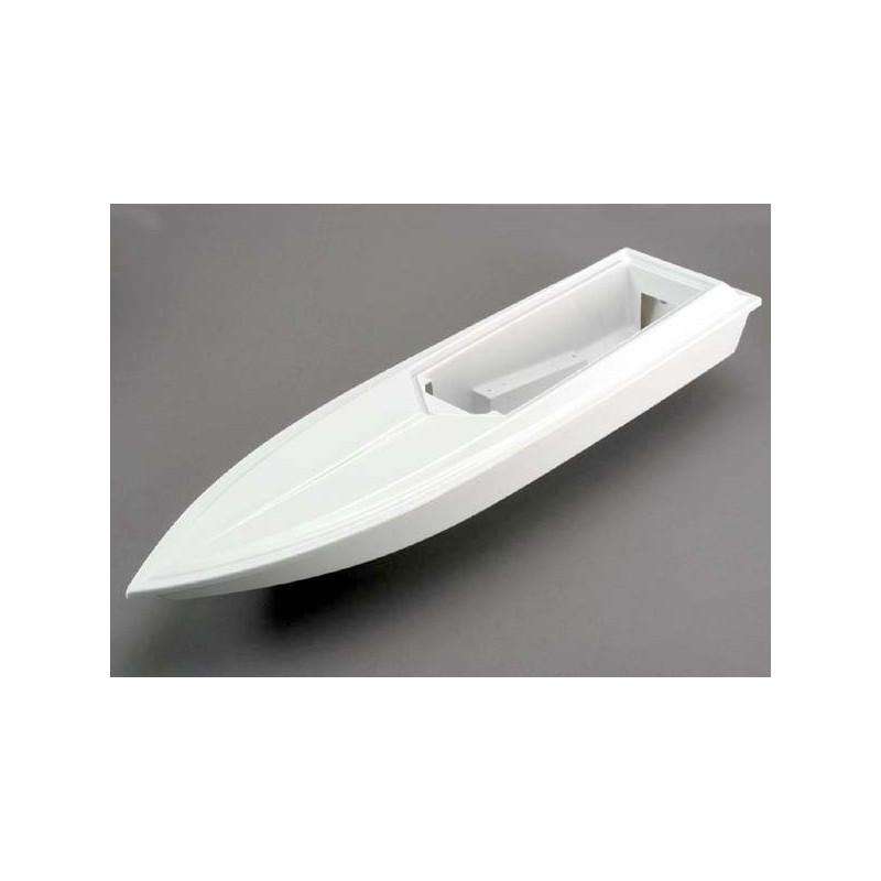 Casco y cubierta inferior con flotación de espuma, Blanca