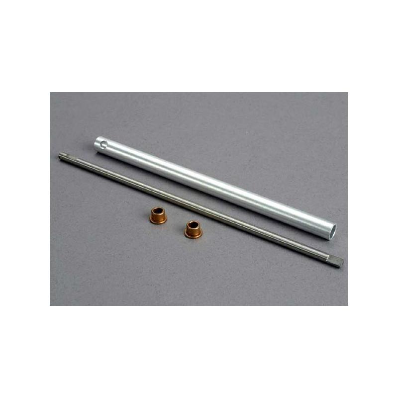 Eje de transmisión / tubo de relleno / casquillos (2)
