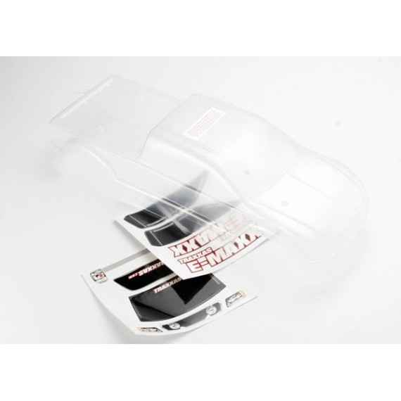 Body E-Maxx (long wheelbase) (clear requires painting)/ window lights decal sheet