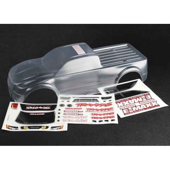 Body E-Maxx Brushless (clear requires painting)/ decal sheet