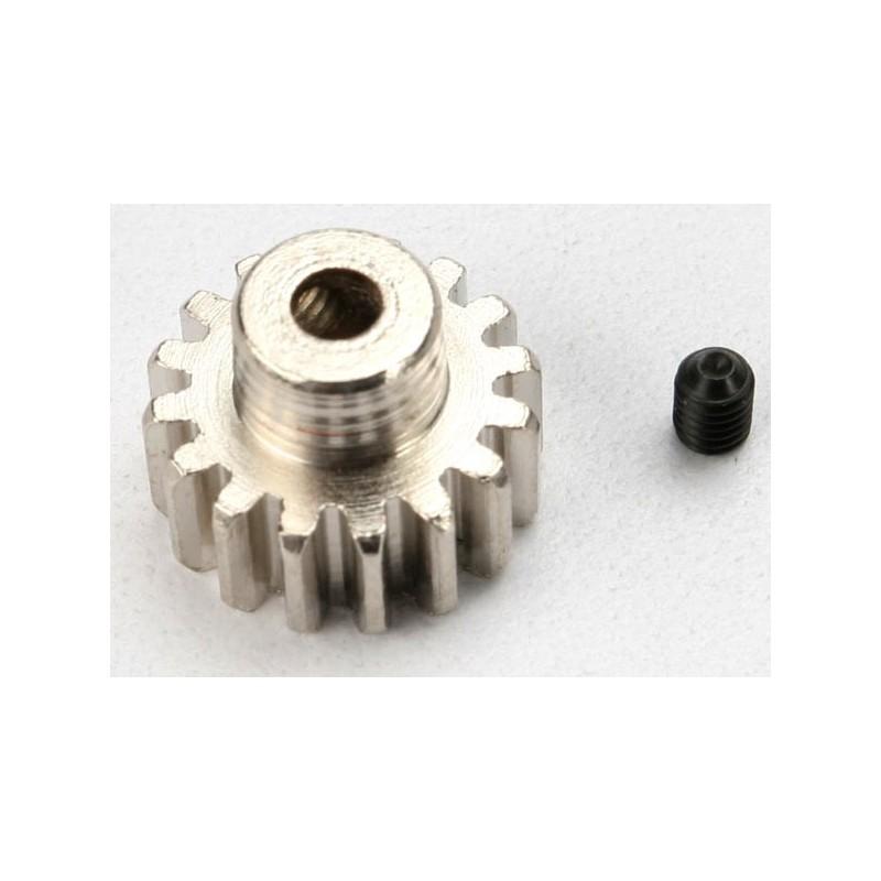 Piñón 16-T Dientes (paso 32p.) para eje de 3mm. con tornillo de ajuste