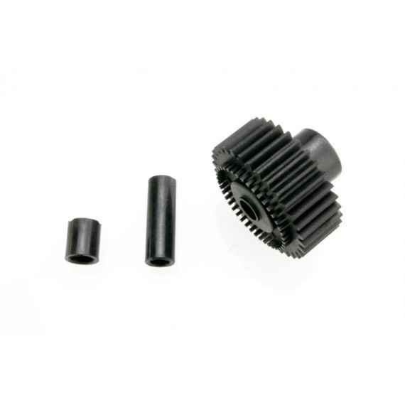 Output gear 33-tooth (1)/ spacers (2)