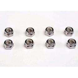 Nuts 5mm nylon locking (8)