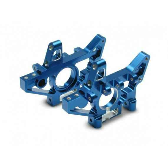 Bulkheads front (machined 6061-T6 aluminum) (blue) (l&r) (requires use of 4939x suspension pins)