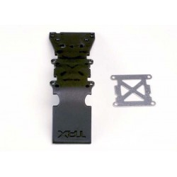 Skidplate front plastic (black)/ stainless steel plate