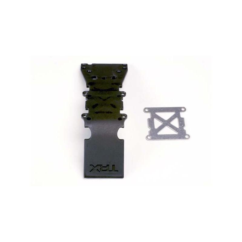 Skidplate front plastic (black)/ stainless steel plate