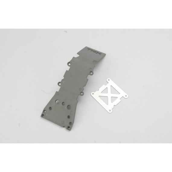 Skidplate front plastic (grey)/ stainless steel plate