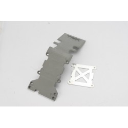 Skidplate rear plastic (grey)/ stainless steel plate