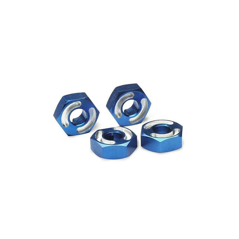 Hexagonales de rueda de aluminio 6061-T6 (azul) (4pcs)
