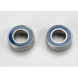 Rodamientos de bolas (5x10x4mm) sellados con caucho azul (2pcs)