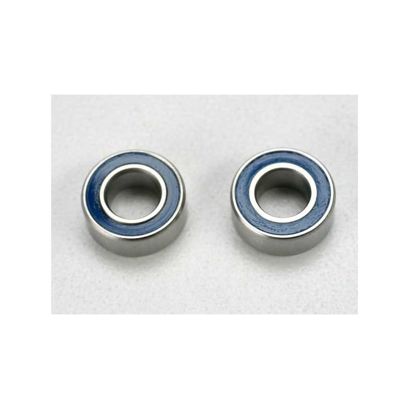 Rodamientos de bolas sellados con caucho azul (5x10x4mm) (2pcs)