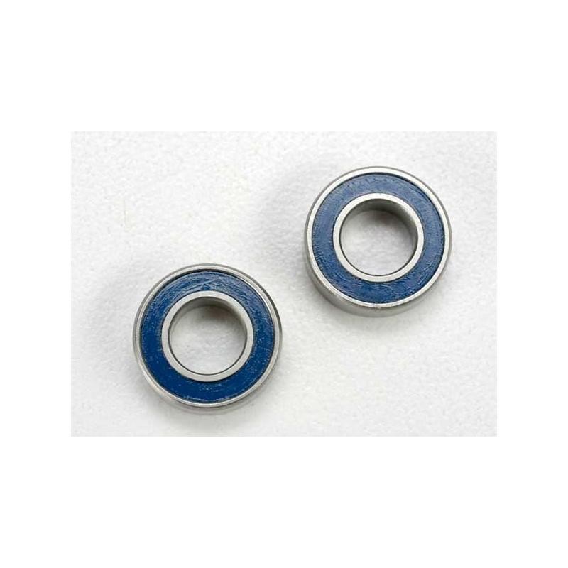 Rodamientos de bolas (6x12x4mm) sellados con caucho azul (2pcs)