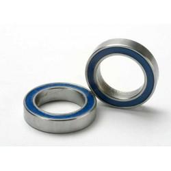 Rodamientos de bolas (12x18x4mm) sellados con caucho azul (2pcs)