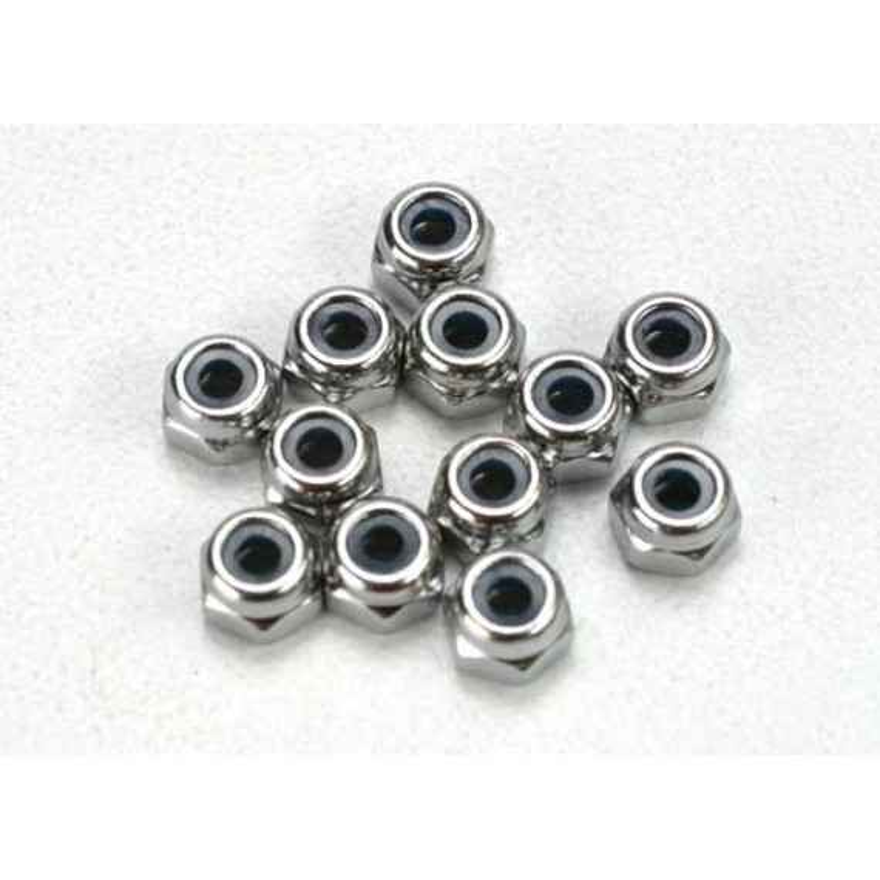 Tuercas de bloqueo de nylon de 2.5 mm (12)