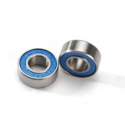 Rodamientos de bolas (6x13x5mm) sellados con goma azul (2pcs)