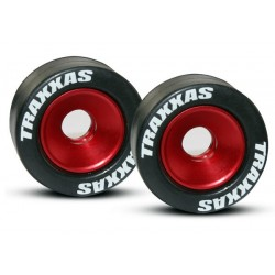Wheels aluminum (red-anodized) (2)/ 5x8mm ball bearings (4)