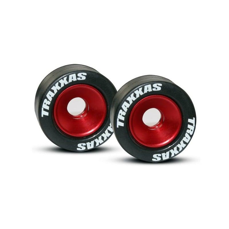 Wheels aluminum (red-anodized) (2)/ 5x8mm ball bearings (4)