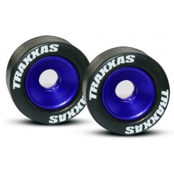 Wheels aluminum (blue-anodized) (2)/ 5x8mm ball bearings (4