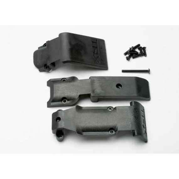 Skid plate set front (2 pieces plastic)/ skid plate rear