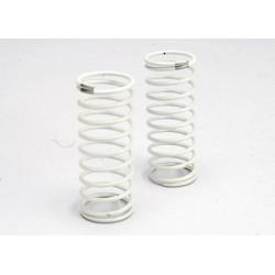 Muelles Amortiguador (blanco) (GTR) (trasero) (1.2 tasa de plata) (2pcs)